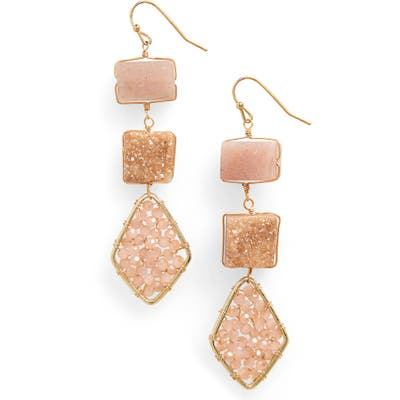 Panacea Crystal Station Linear Earrings