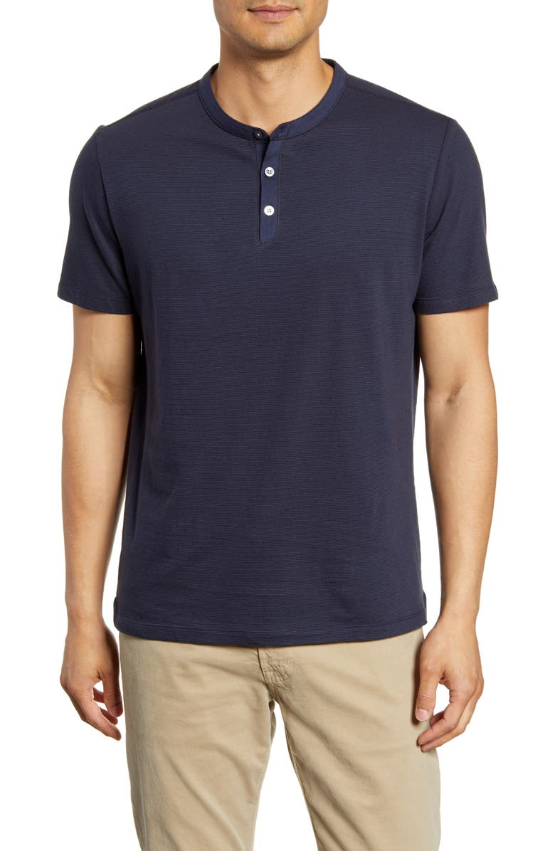 ROBERT BARAKETT Andre Regular Fit Henley T-Shirt, Main, color, 498