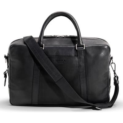 Shinola Signature Leather Slim Briefcase -