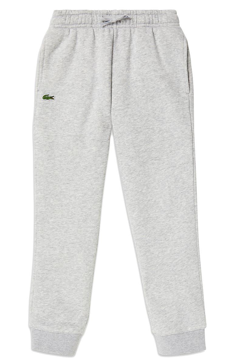 LACOSTE Solid Fleece Jogger Sweatpants, Main, color, SILVER CHINE