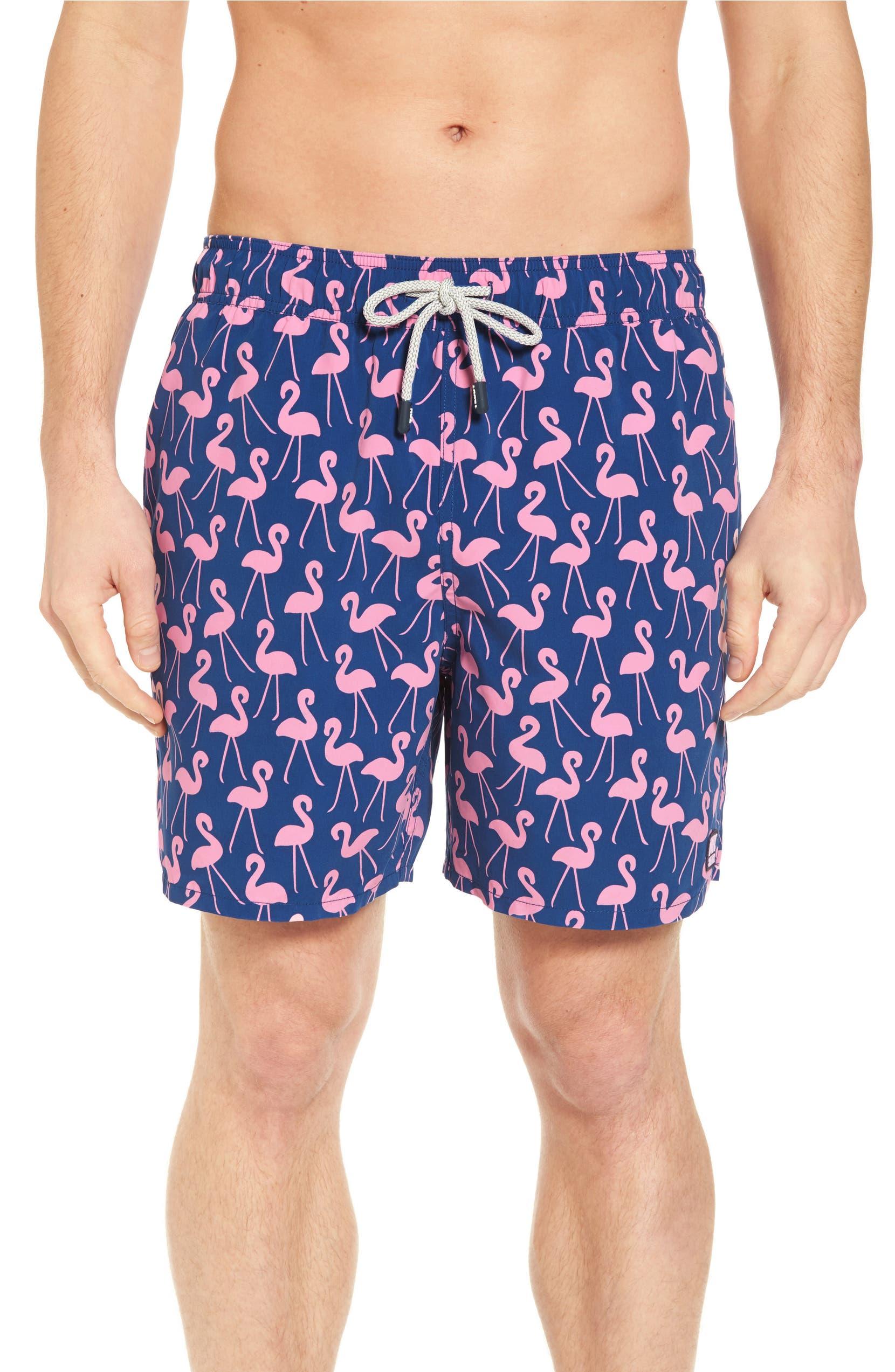 9dc6cb0c0ae Flamingo Print Swim Trunks
