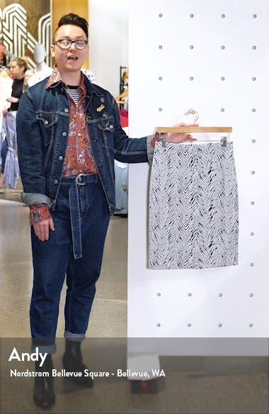 Zebra Jacquard Pencil Skirt, sales video thumbnail
