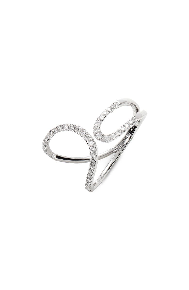 BONY LEVY Open Rounded Cuff Ring, Main, color, WHITE GOLD
