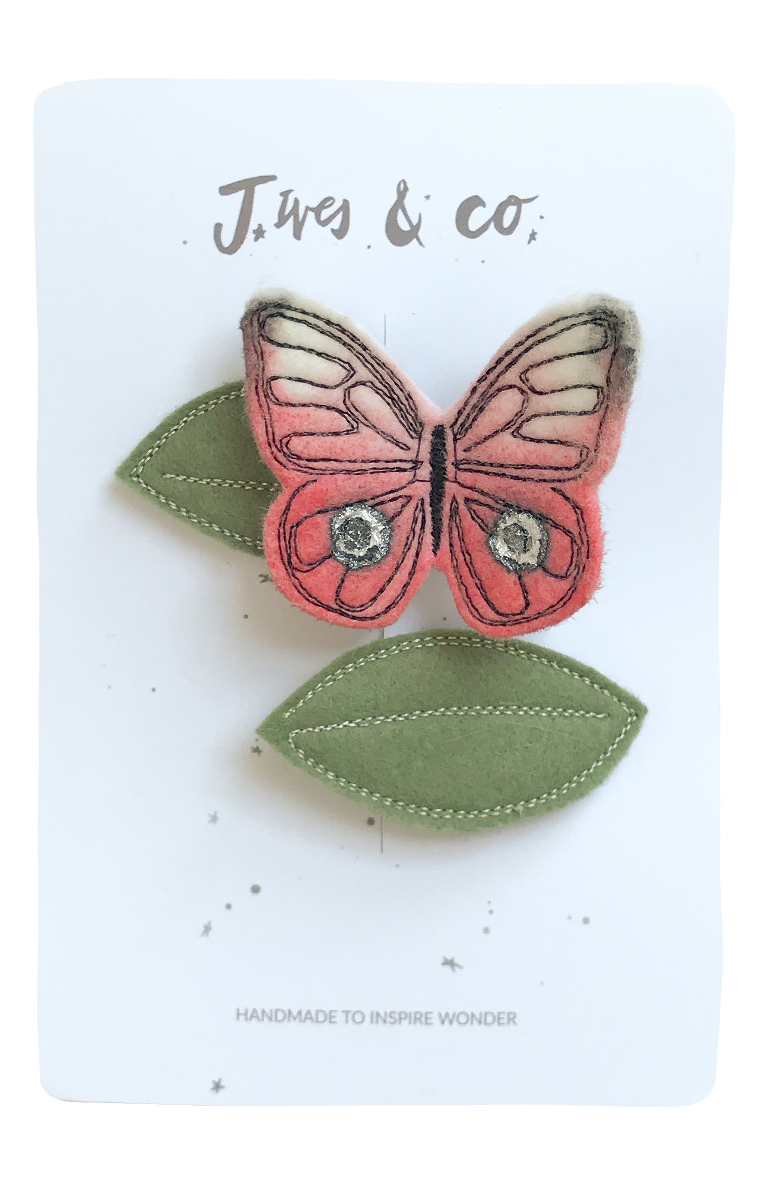 Baby Jives  Co Butterfly 2Pack Hair Clips Size One Size  Pink