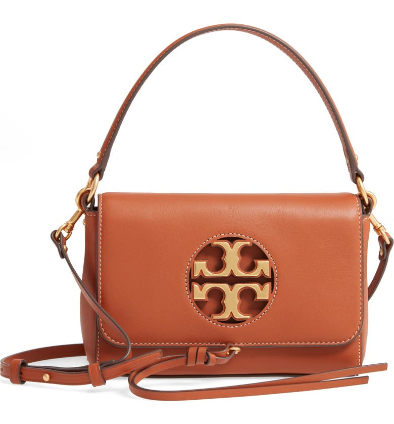 TORY BURCH Mini Miller Leather Top Handle Bag, Main, color, AGED CAMELLO