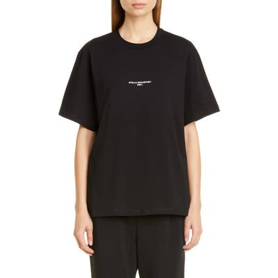 Stella Mccartney 2001 Small Logo Tee, 48 IT - Black