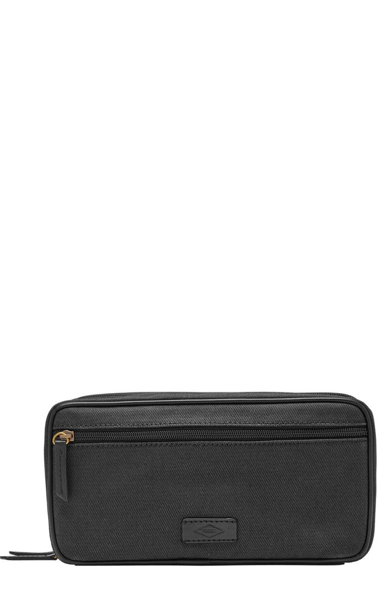 FOSSIL Canvas Travel Kit, Main, color, 001