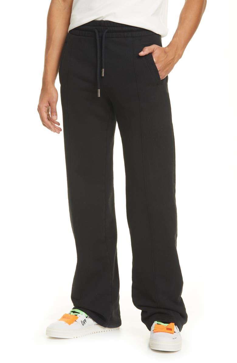 OFF-WHITE Diagonal Stripe Sweatpants, Main, color, BLACK BLACK