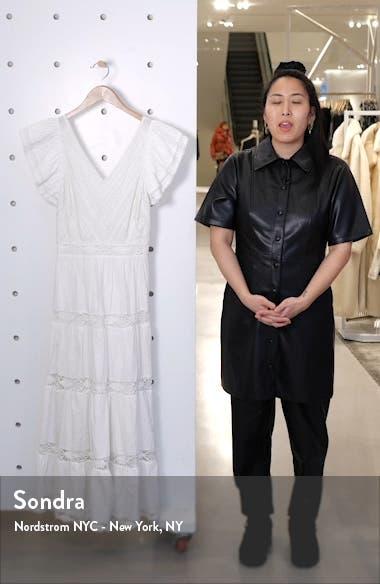 Lea Eyelet & Lace Cotton Midi Dress, sales video thumbnail