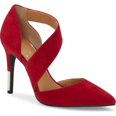 Jessica Simpson Pintra Pointed Toe Pump- Red