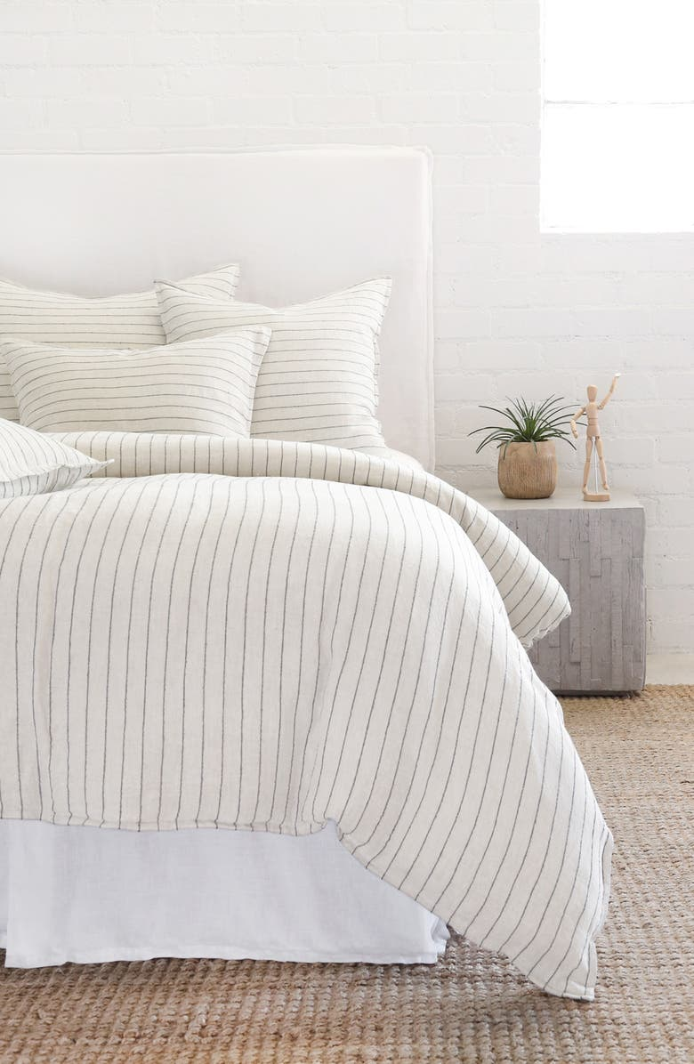 POM POM AT HOME Blake Duvet Cover, Main, color, CREAM/ GREY