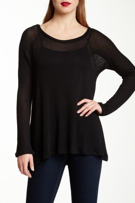 Image of Valette Scoop Neck Long Raglan Sleeve Sweater