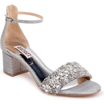 Badgley Mischka Liz Ankle Strap Sandal- Metallic