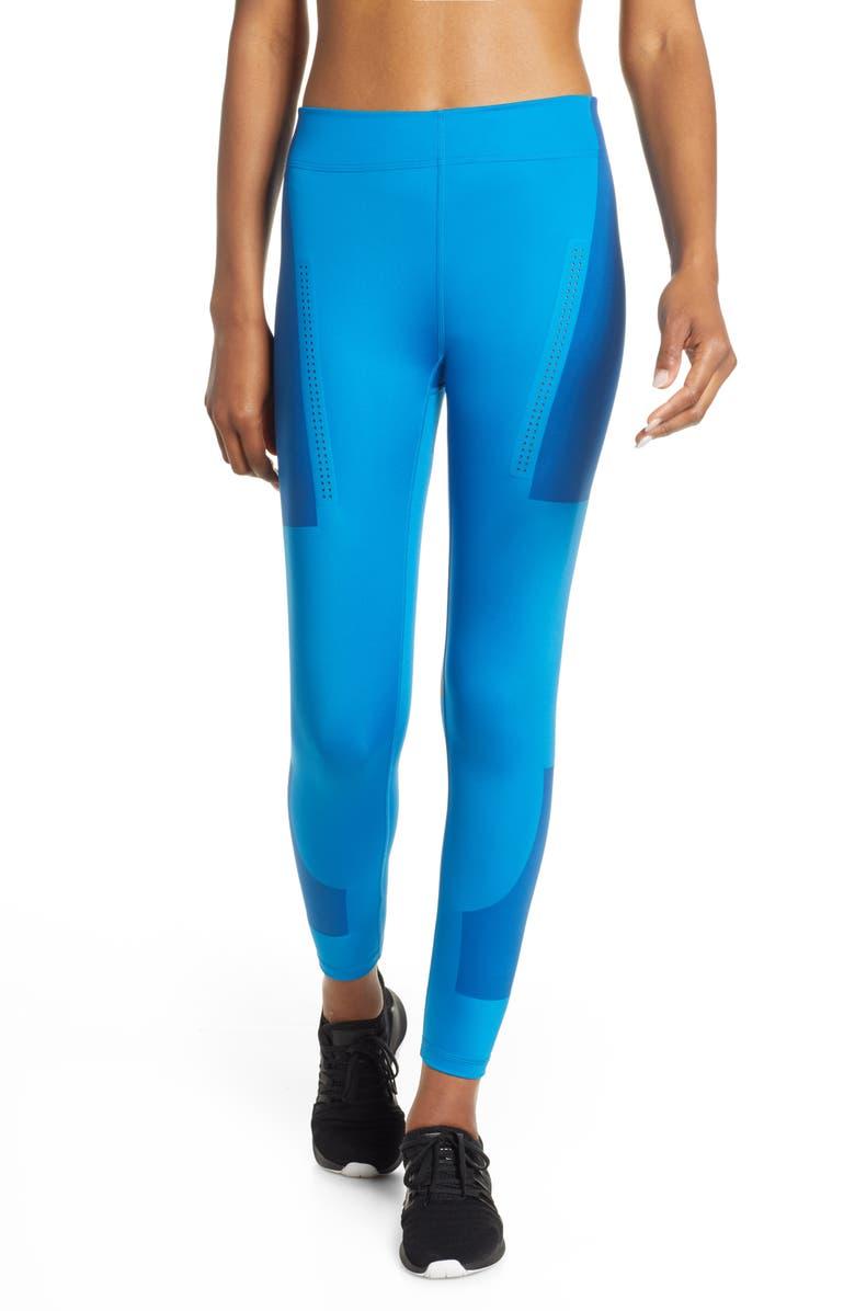 ADIDAS BY STELLA MCCARTNEY High Intensity Training Tights, Main, color, CRAFT BLUE F12
