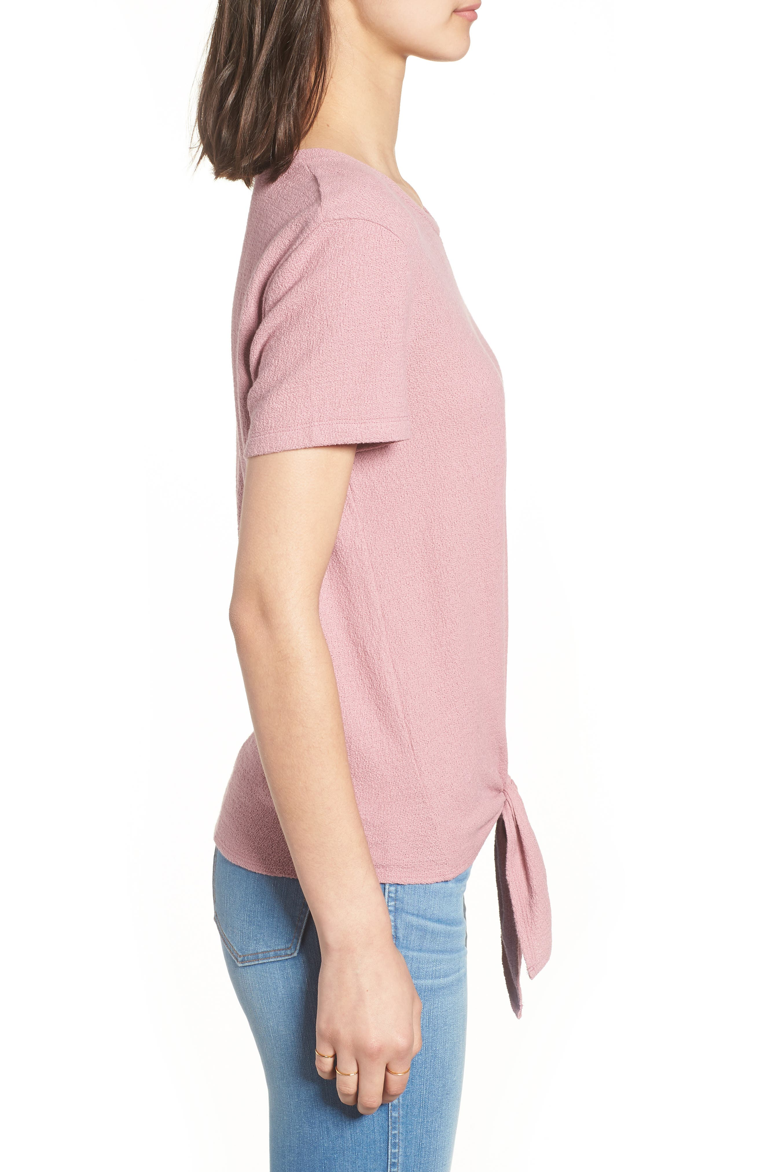 ,                             Modern Tie Front Tee,                             Alternate thumbnail 12, color,                             651