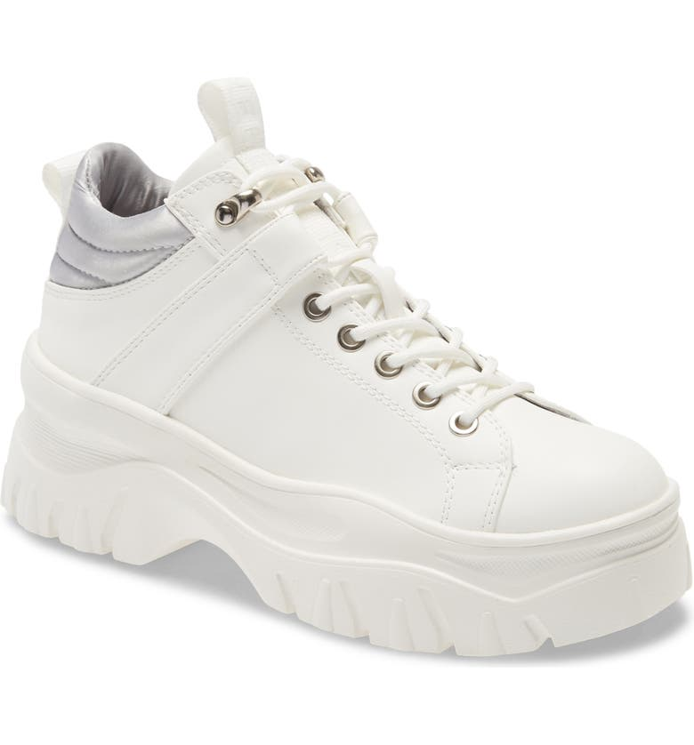 REBELS Fay 2 Platform Sneaker, Main, color, WHITE FAUX LEATHER