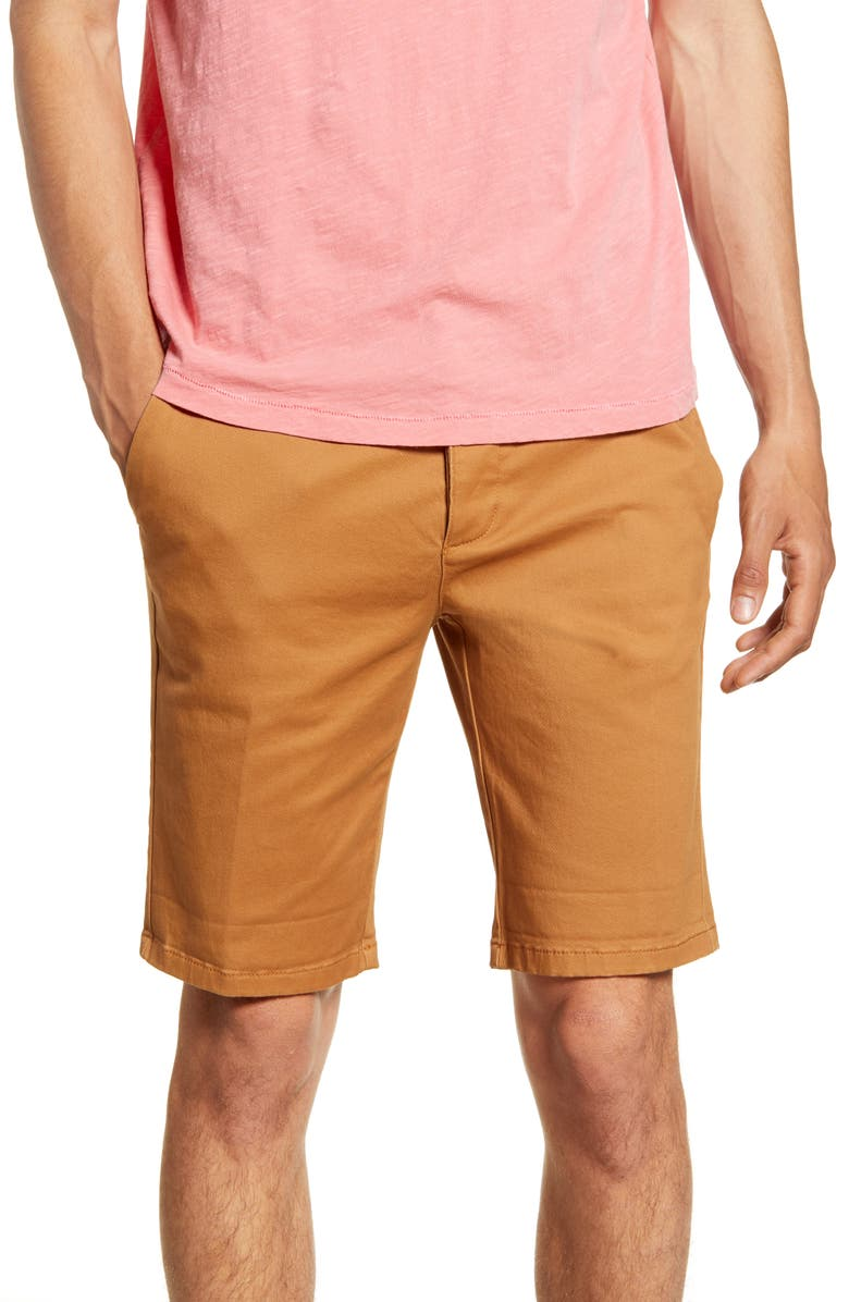 TOPMAN Archy Solid Chino Shorts, Main, color, 200