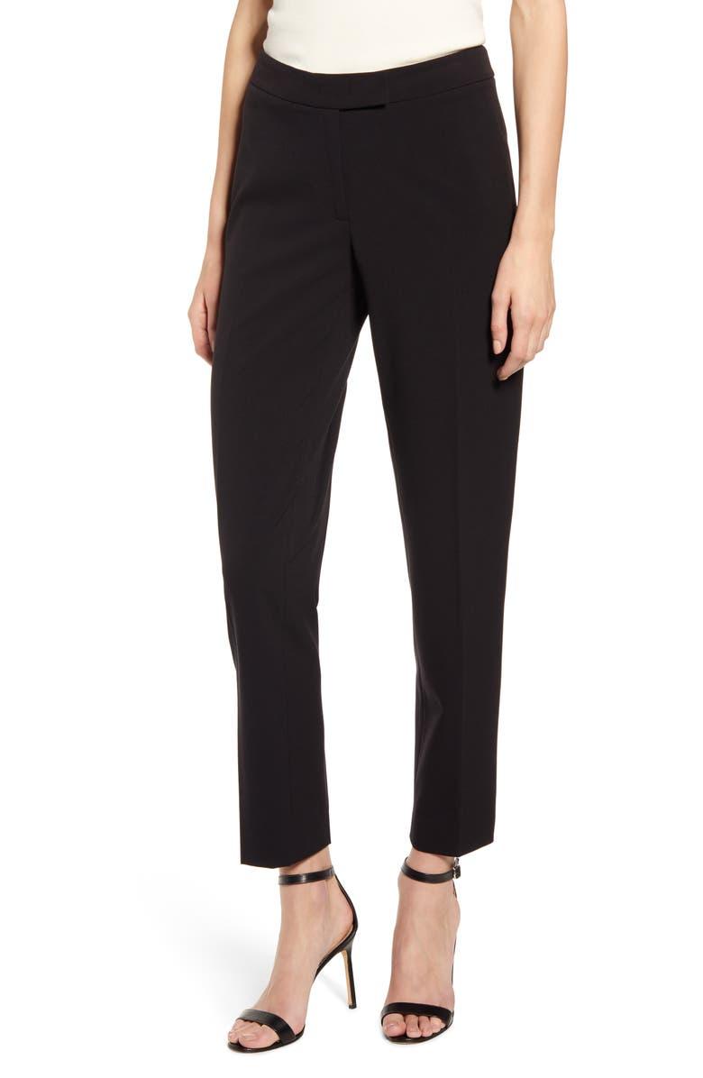 ANNE KLEIN Clean Front Pants, Main, color, ANNE BLK