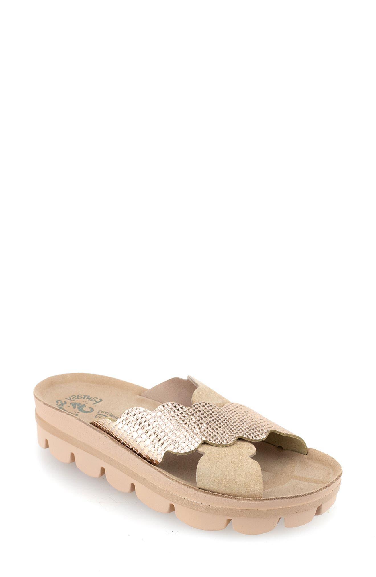 Bianca Platform Slide Sandal