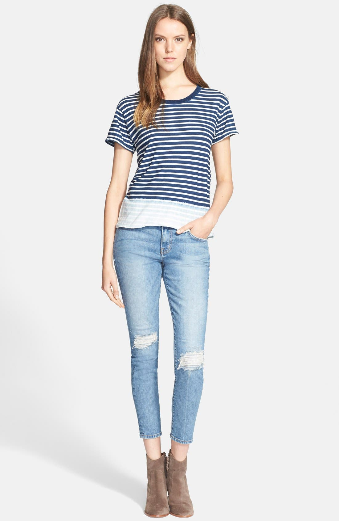 ,                             'The Stiletto' Destroyed Skinny Jeans,                             Alternate thumbnail 8, color,                             456