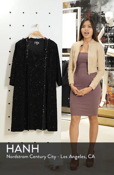 Sequin Shift Dress with Jacket, sales video thumbnail