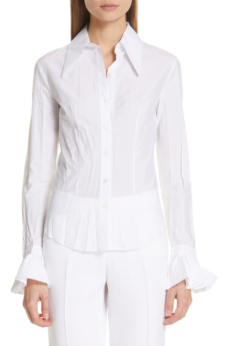 MICHAEL KORS Bell Sleeve Shirt, Main, color, 100