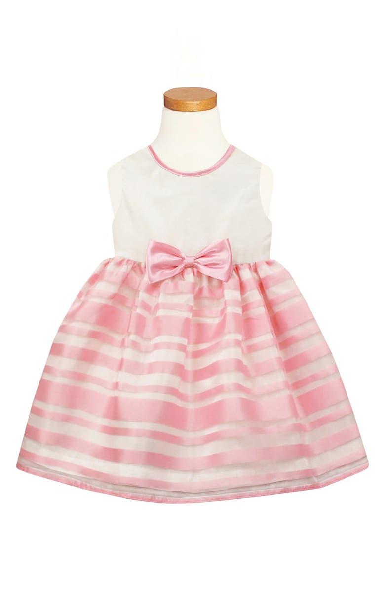 Sorbet Pink Stripe Dress Toddler Girls Little Girls Big Girls