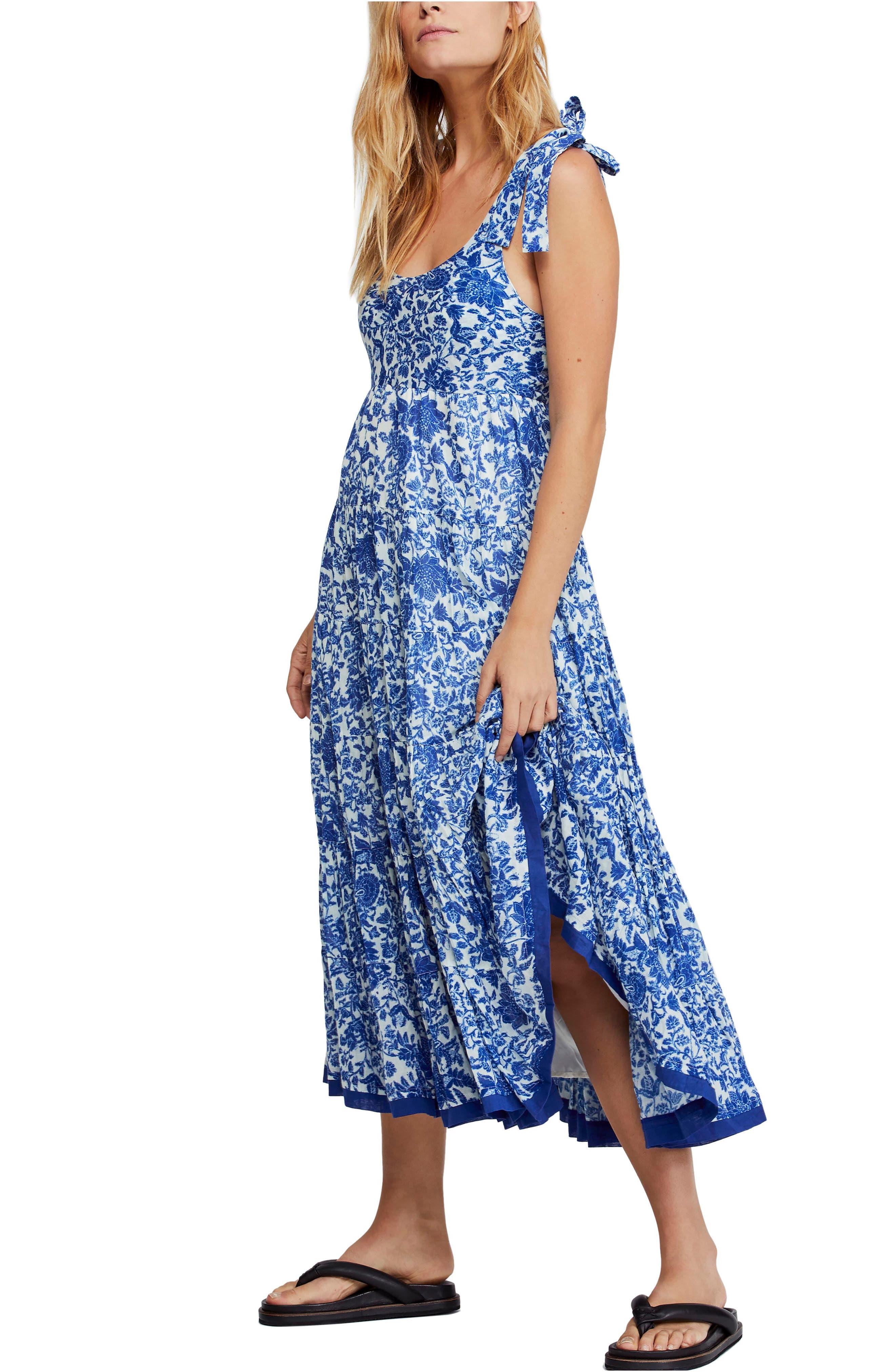 Free People Kikas Print Dress, Blue