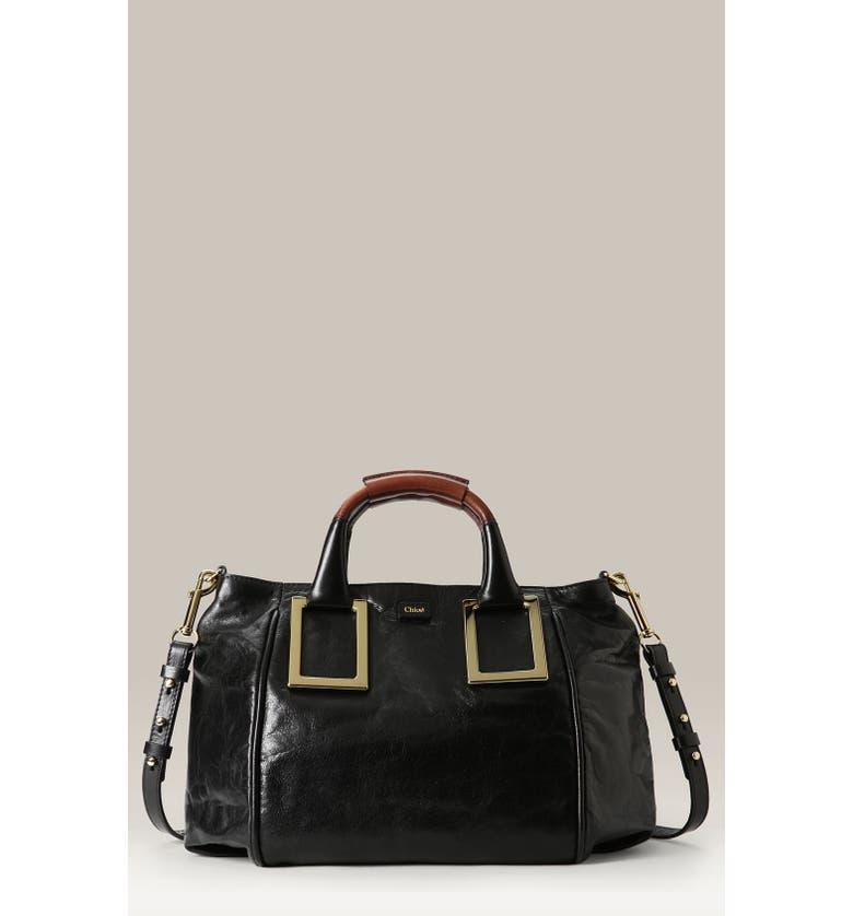 CHLOÉ 'Ethel - Medium' Leather Satchel, Main, color, 002
