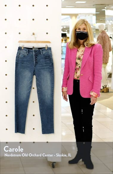 Ab-Solution Exposed Button Raw Hem Slim Jeans, sales video thumbnail