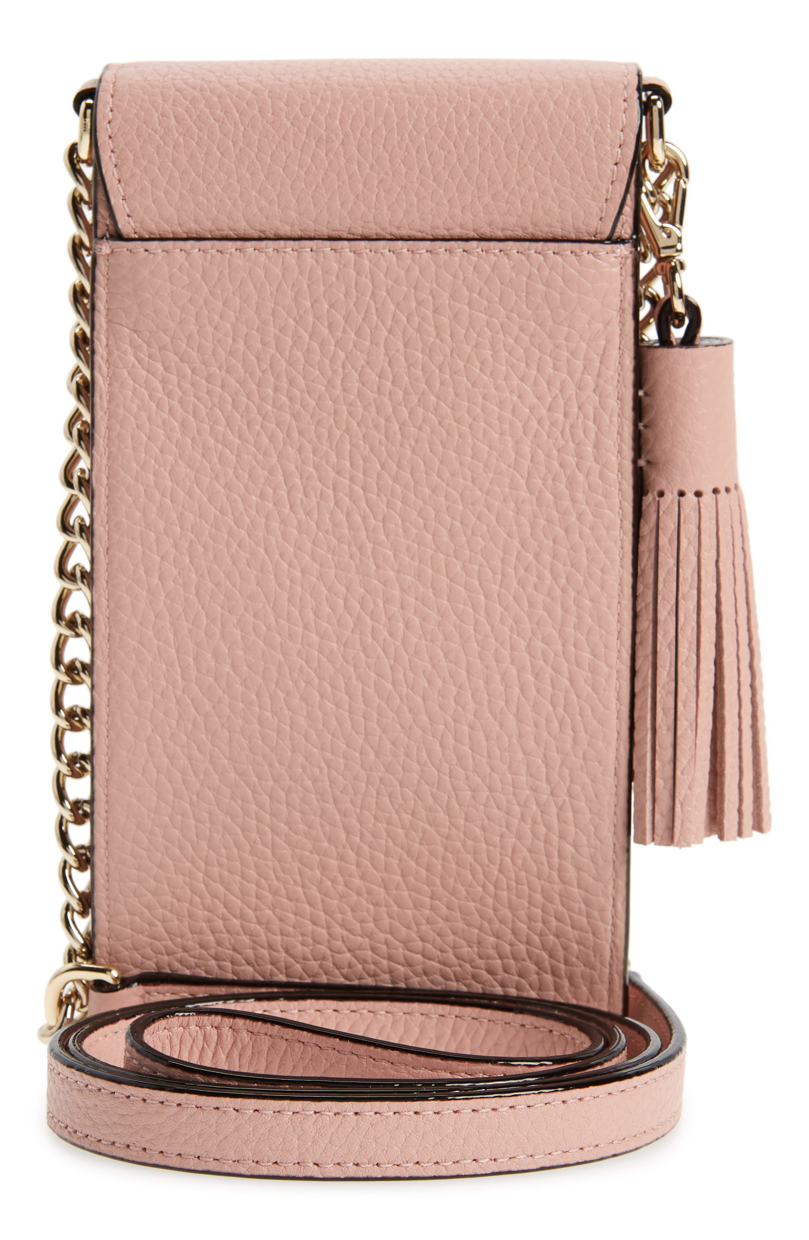 ,                             north/south leather smartphone crossbody bag,                             Alternate thumbnail 64, color,                             930