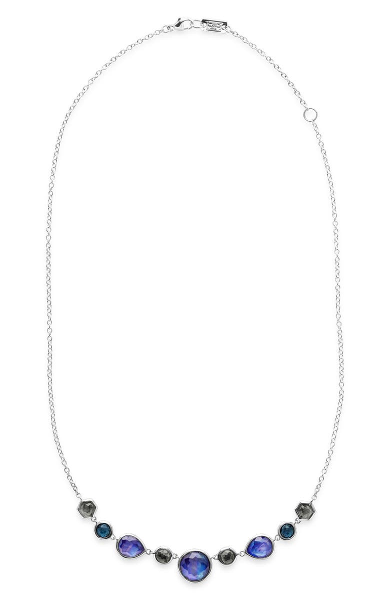 IPPOLITA Rock Candy Frontal Necklace, Main, color, SILVER/ ECLIPSE