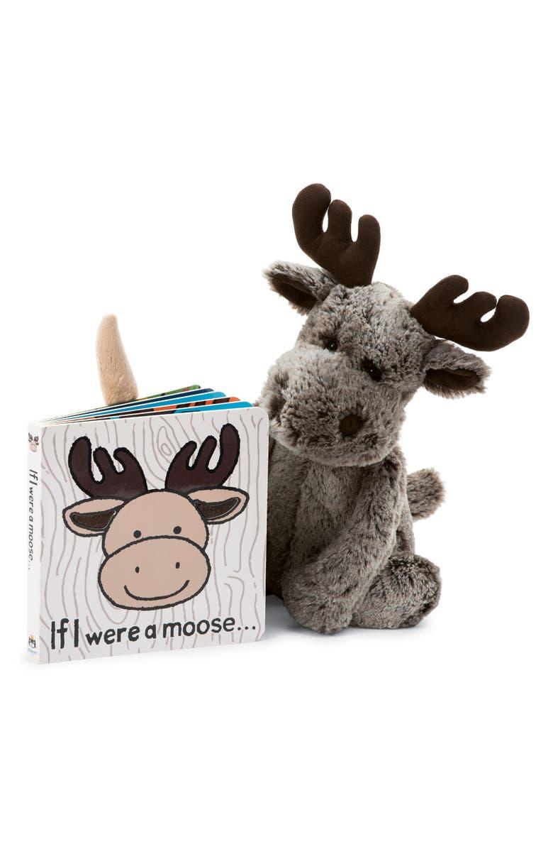 JELLYCAT 'If I Were a Moose' Board Book & Stuffed Animal, Main, color, MULTI