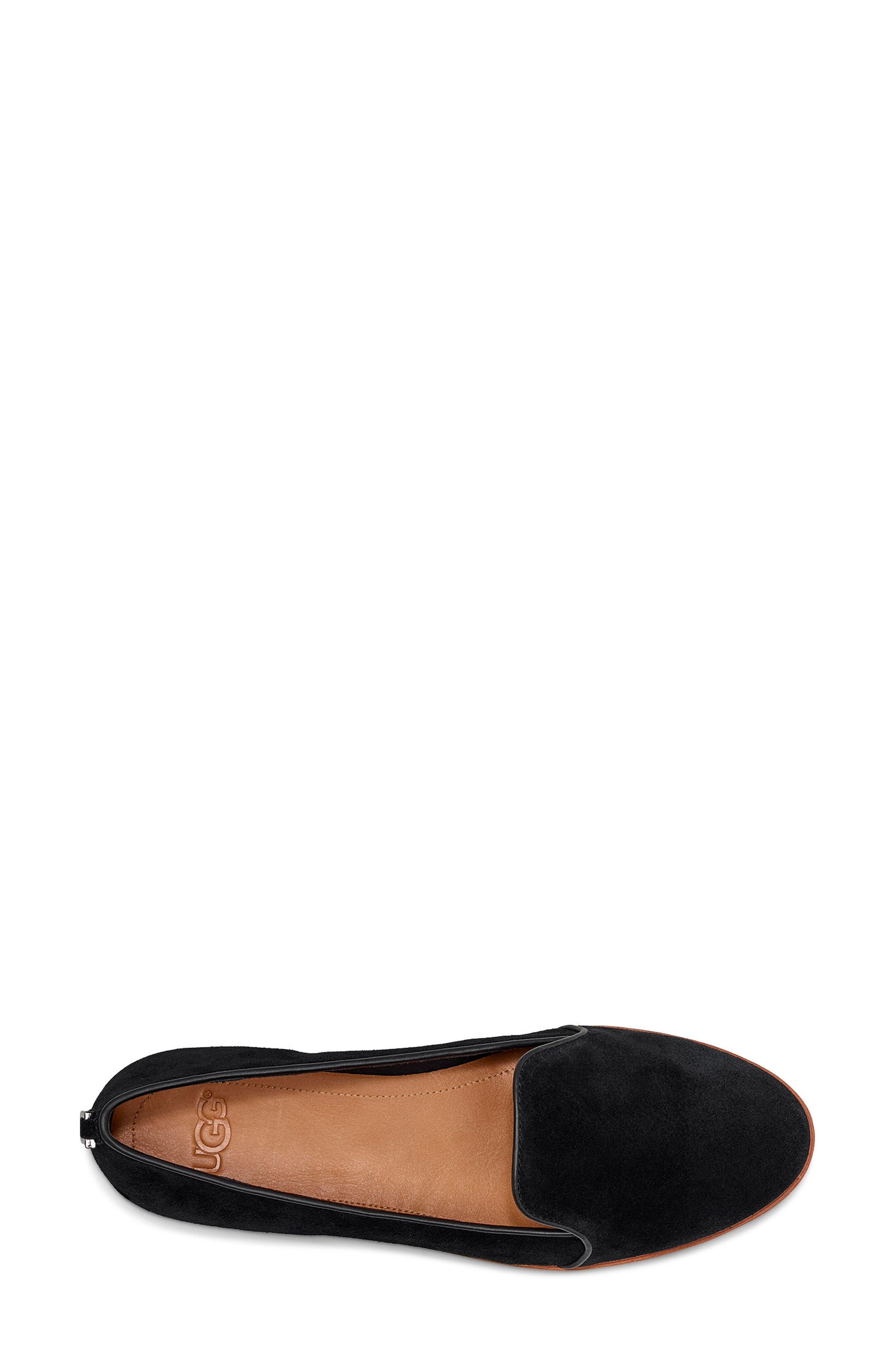 ,                             Bonnie Loafer Flat,                             Alternate thumbnail 4, color,                             BLACK SUEDE