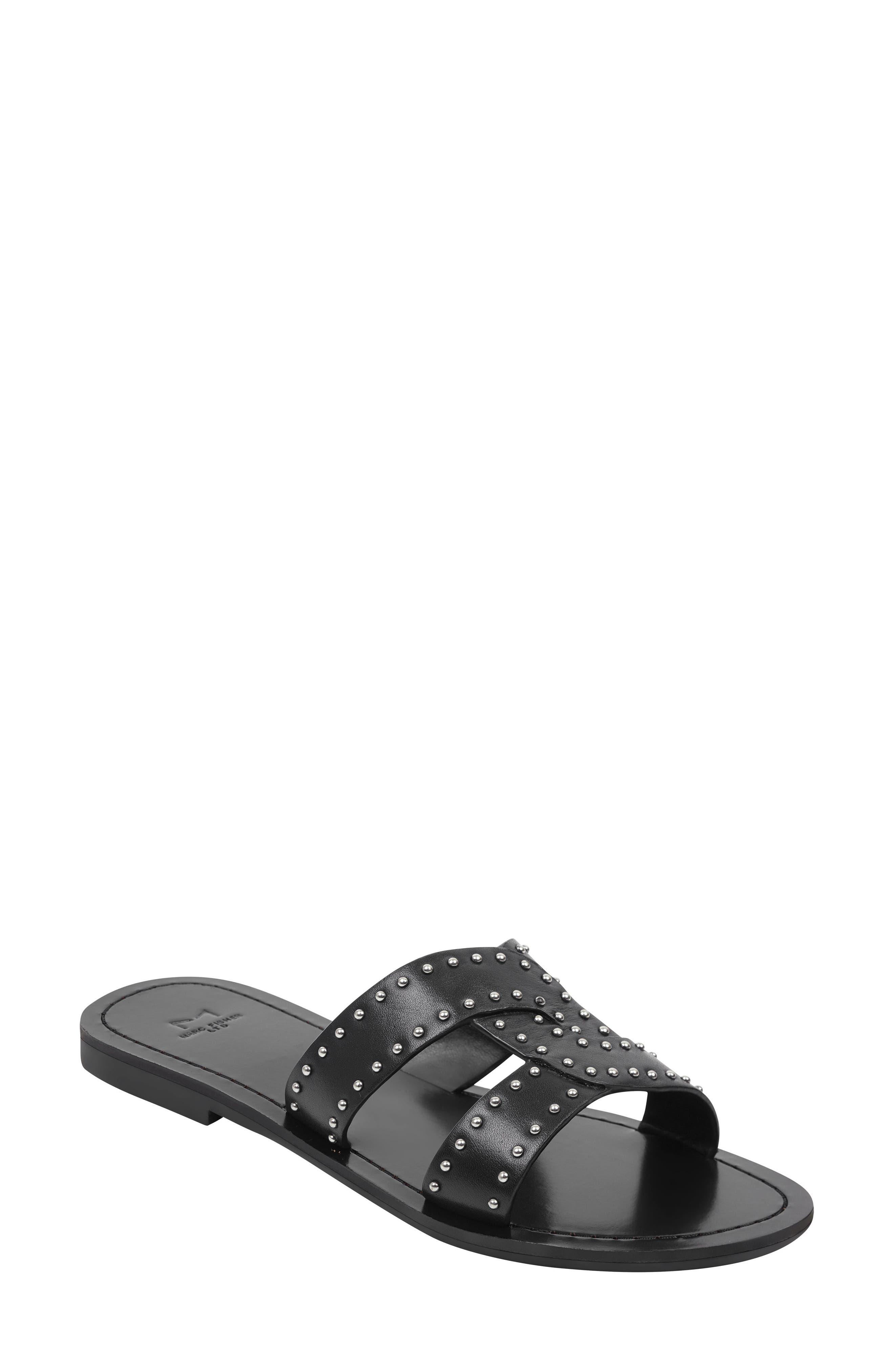 Marc Fisher Ltd Ramie Slide Sandal, Black
