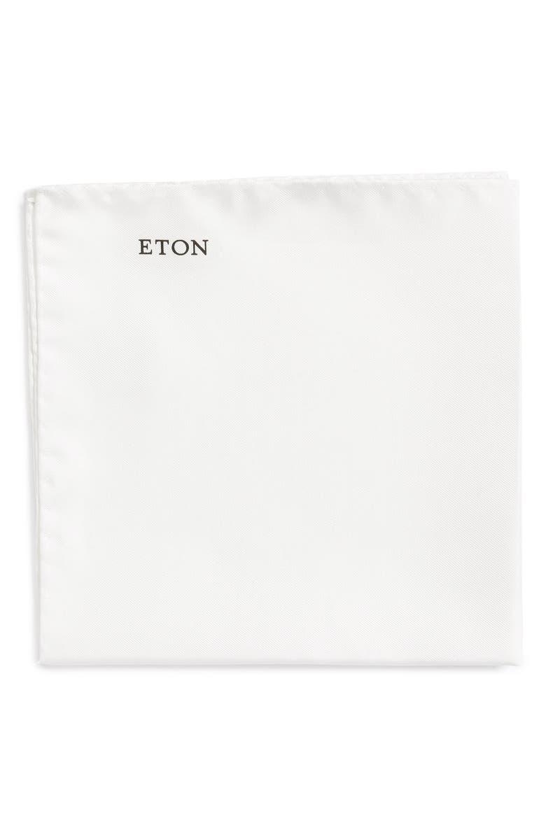 ETON Silk Pocket Square, Main, color, 100