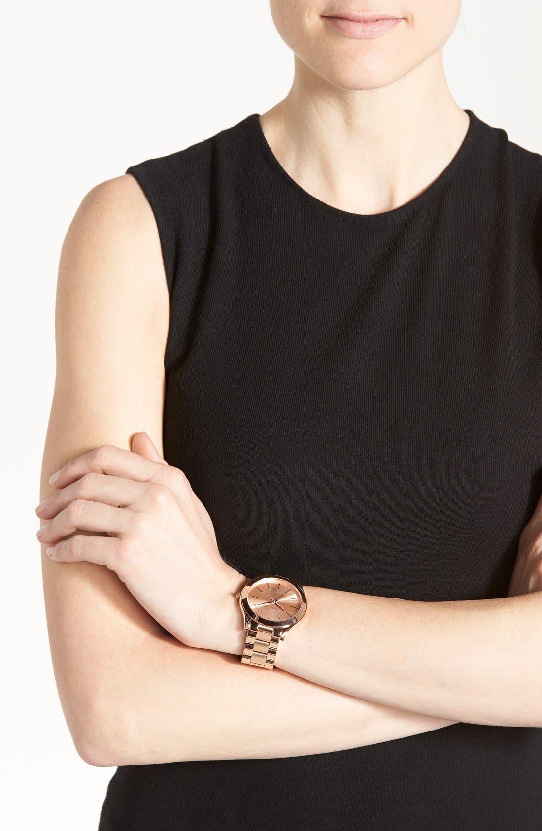,                             'Slim Runway' Bracelet Watch, 42mm,                             Alternate thumbnail 46, color,                             712