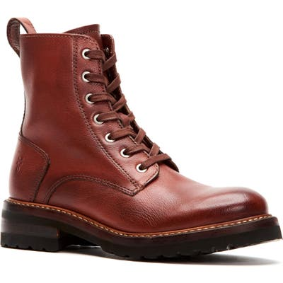 Frye Ella Combat Boot, Red