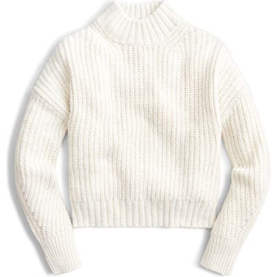 J.crew Mock Neck Donegal Sweater, Ivory