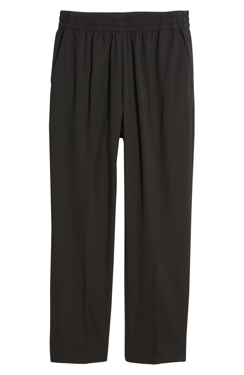 EVERLANE The Italian GoWeave Easy Pants, Main, color, BLACK