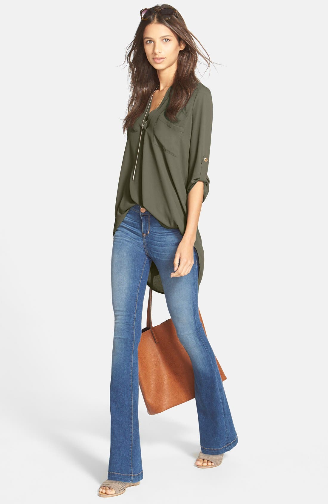 ,                             Perfect Roll Tab Sleeve Tunic,                             Alternate thumbnail 238, color,                             300