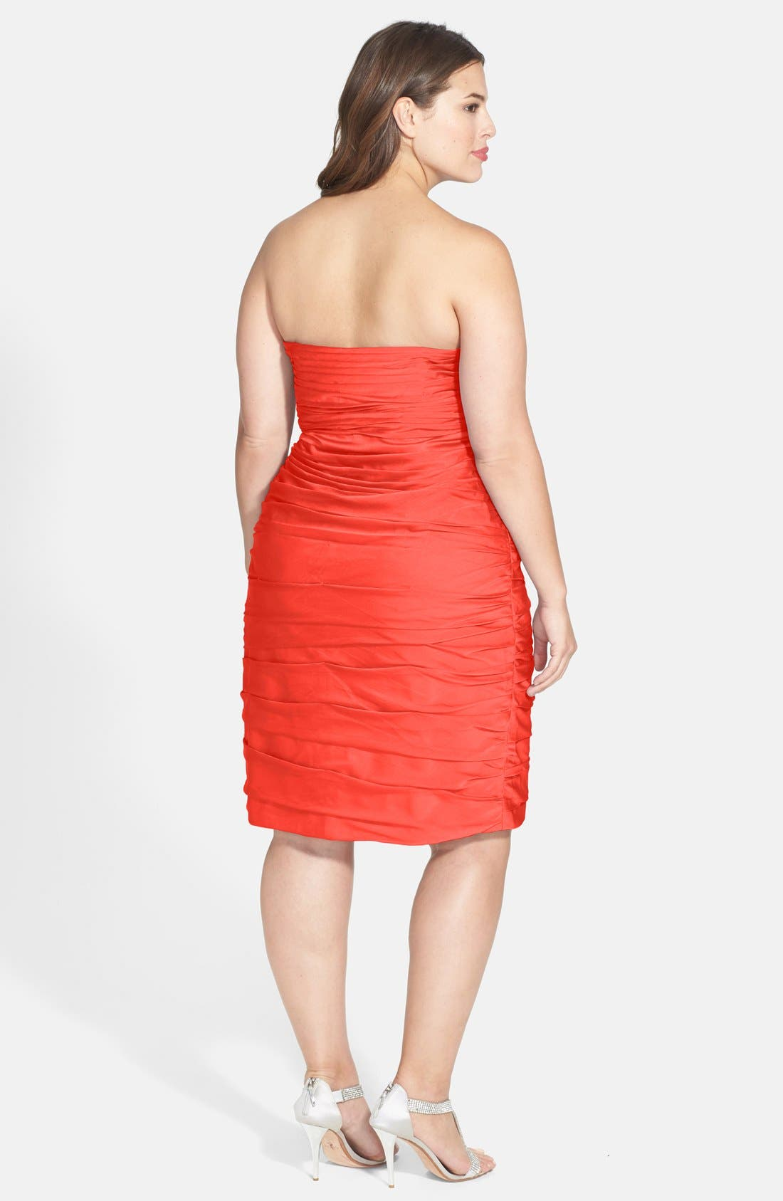 ,                             Ruched Strapless Cationic Chiffon Dress,                             Alternate thumbnail 73, color,                             800