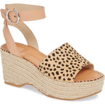 Dolce Vita Lesly Espadrille Platform Sandal- Brown