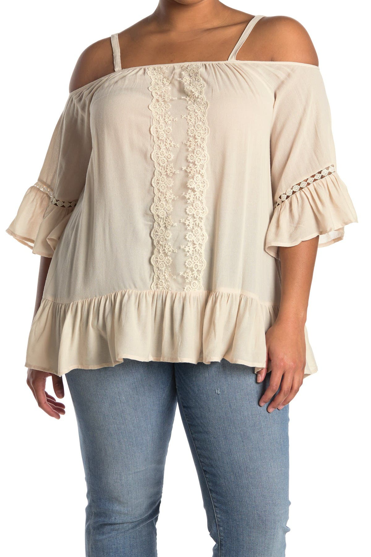 Image of Forgotten Grace Off-The-Shoulder Embroidered Blouse