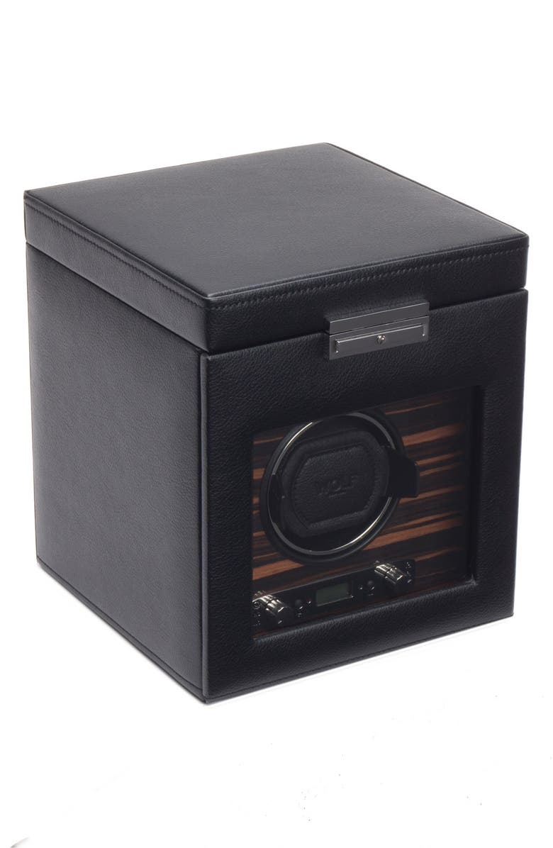 WOLF Roadster Watch Winder & Storage Space, Main, color, BLACK