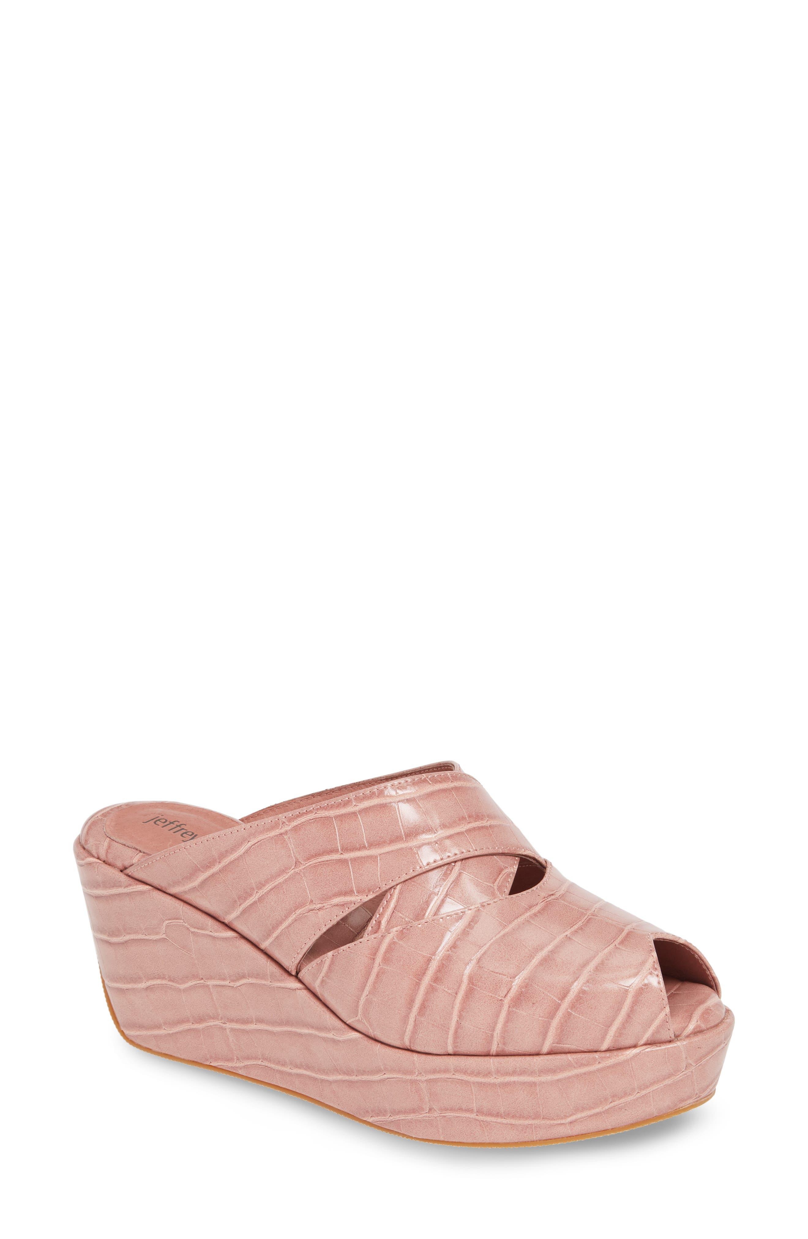 Jeffrey Campbell Breah Platform Wedge Mule- Pink