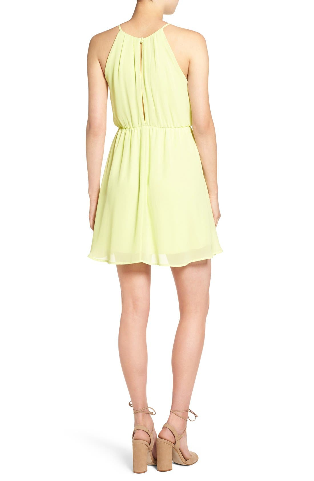 ,                             Blouson Chiffon Skater Dress,                             Alternate thumbnail 225, color,                             732