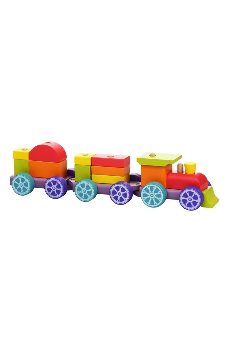 CUBIKA Wooden Rainbow Train, Main, color, MULTICOLOR
