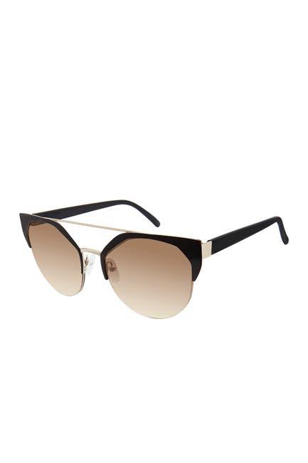 Image of True Religion 54mm Geometric Round Sunglasses