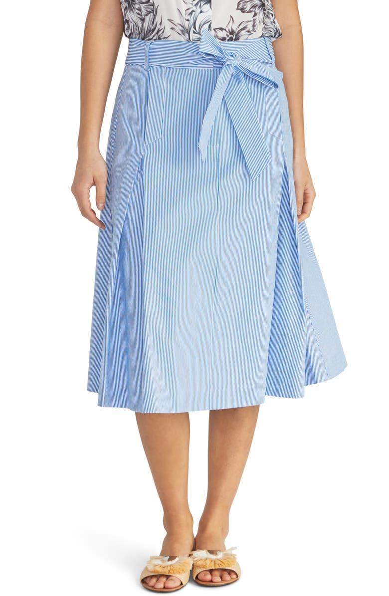 RACHEL ROY COLLECTION Sailor Stripe A-Line Skirt, Main, color, 436